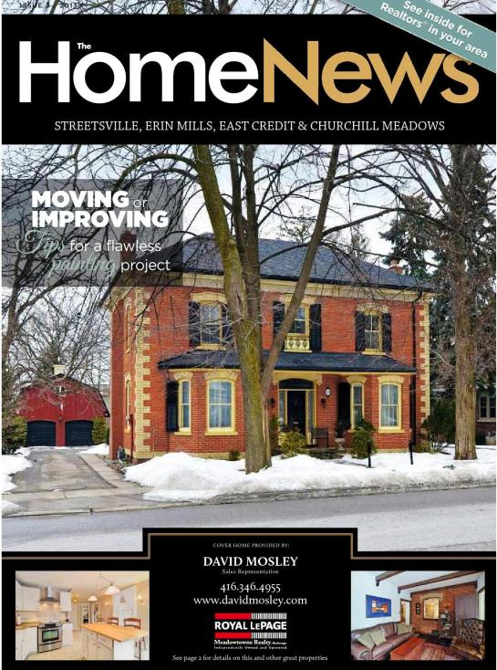 In the news...Village of Streetsville Heritage Property 312 Queen Street South on the Cover of the Home News