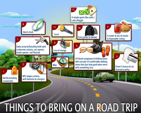 Things To Bring On A Road Trip & SEVEN Tips For A Safe Trip To The Cottage Or Campsite