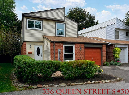 Just Listed For Sale in the Village of Streetsville - 3 Bedroom Fully Detached Condo Townhouse with NO HOMES BEHIND!
