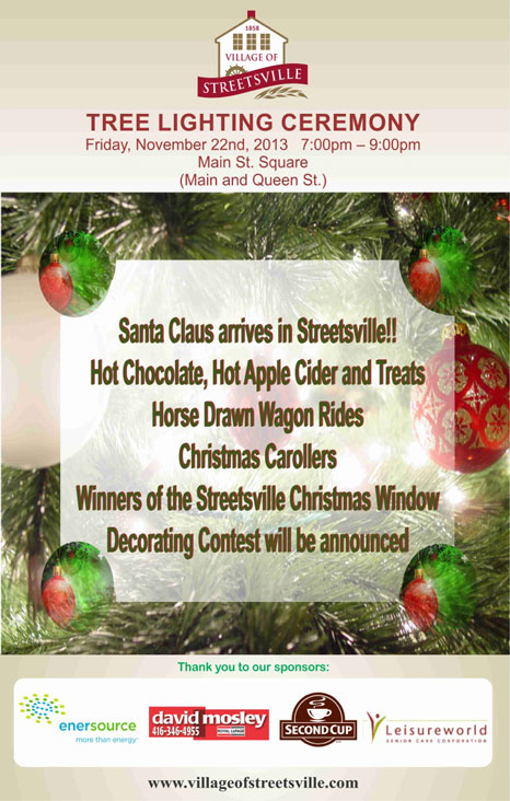 Streetsville Tree Lighting Ceremony 2013